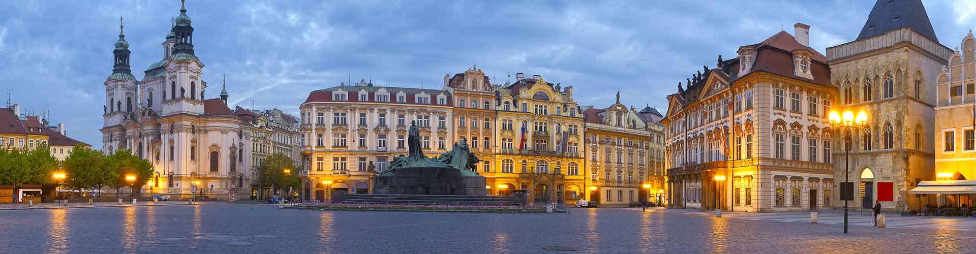 布拉格 – 市中心附近的宾馆。布拉格地图,布拉格每间宾馆的照片和评价。