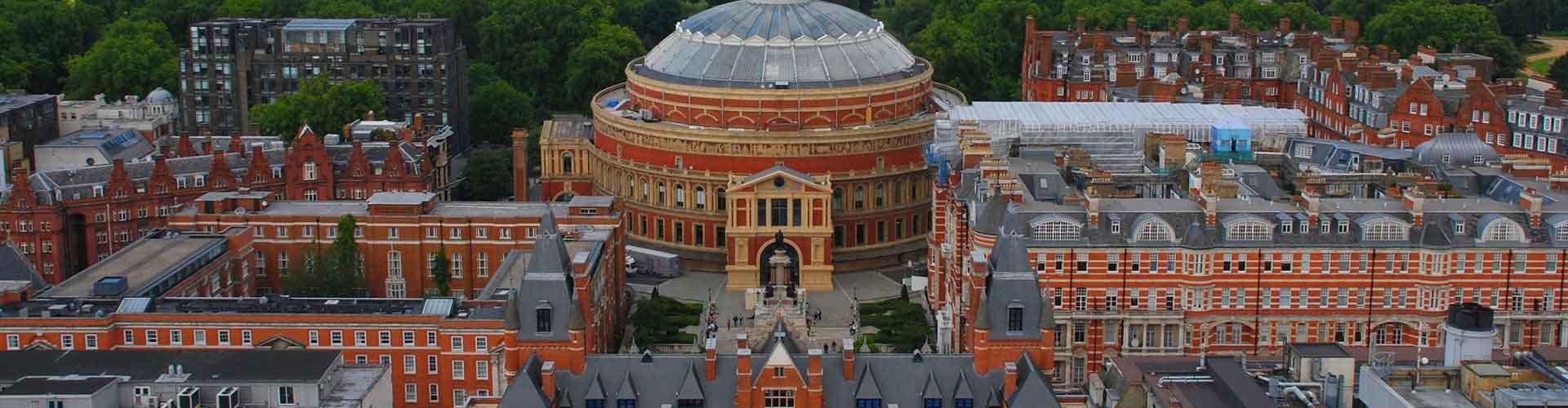 伦敦 – 皇家阿尔伯特音乐厅附近的宾馆。伦敦地图,伦敦每间宾馆的照片和评价。
