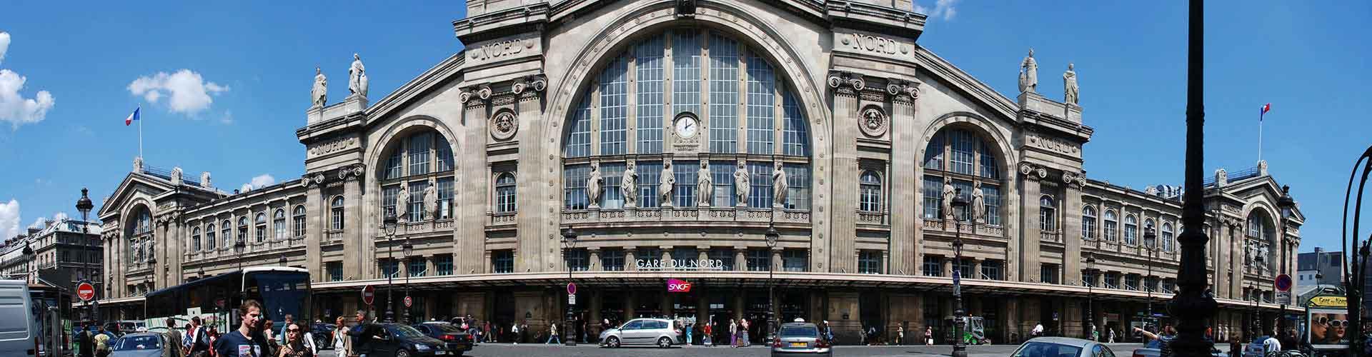 巴黎 – Train Station Gare du Nord区的青年旅舍。巴黎地图,巴黎每间青年旅舍的照片和评价。