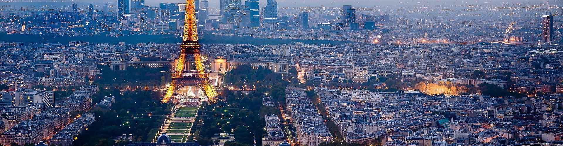 巴黎 – 市中心附近的露营地。巴黎地图,巴黎每个露营地的照片和评价。
