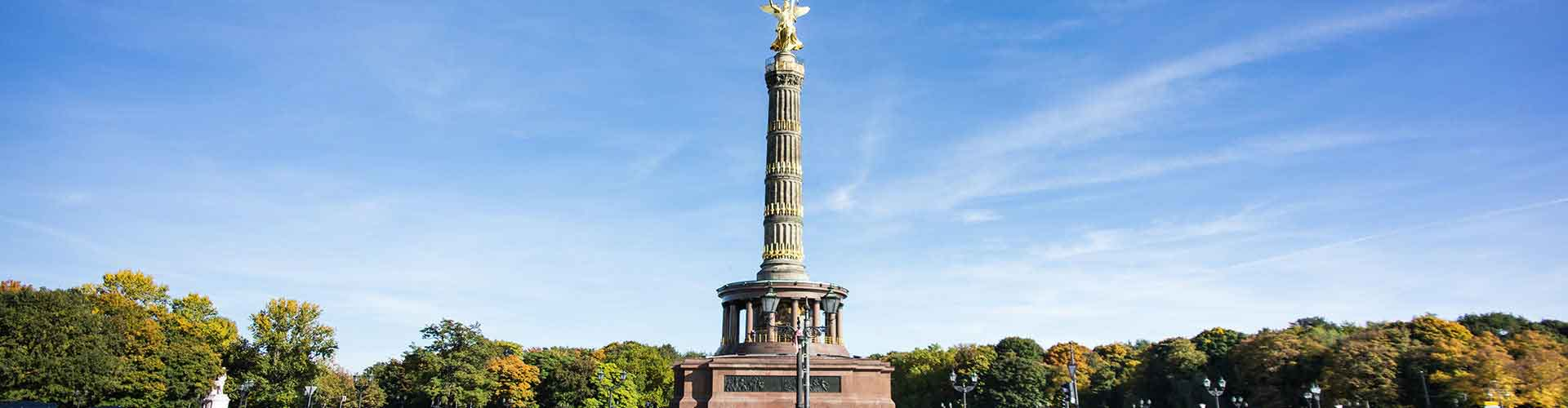 柏林 – 柏林胜利纪念柱附近的露营地。柏林地图,柏林每个露营地的照片和评价。