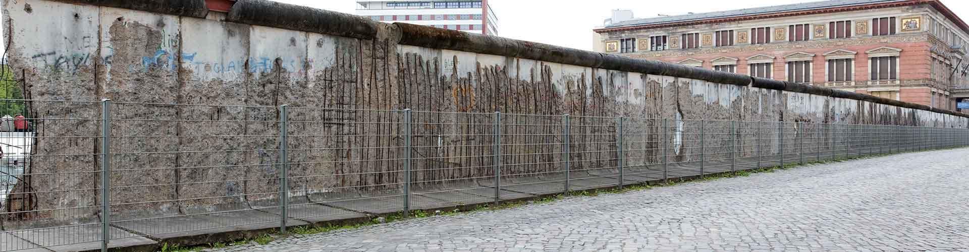 柏林 – 柏林墙 附近的青年旅舍。柏林地图,柏林 所有青年旅馆的照片和评分。