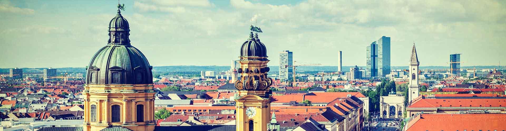 慕尼黑 – Dom Pedro区的青年旅舍。慕尼黑地图,慕尼黑每间青年旅舍的照片和评价。