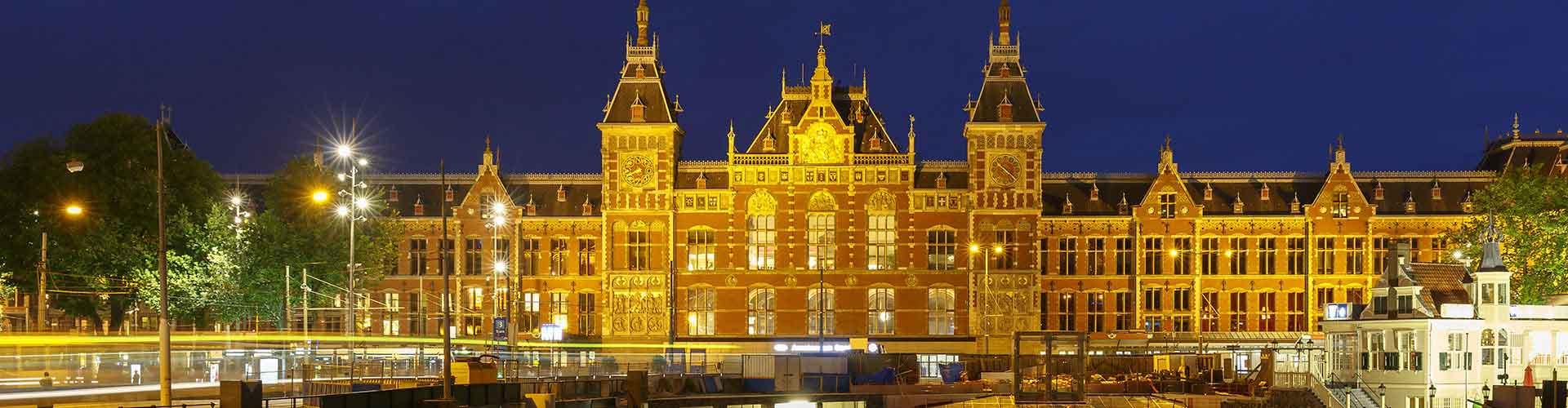 阿姆斯特丹 – 阿姆斯特丹中央火车站 附近的青年旅舍。阿姆斯特丹地图,阿姆斯特丹 所有青年旅馆的照片和评分。