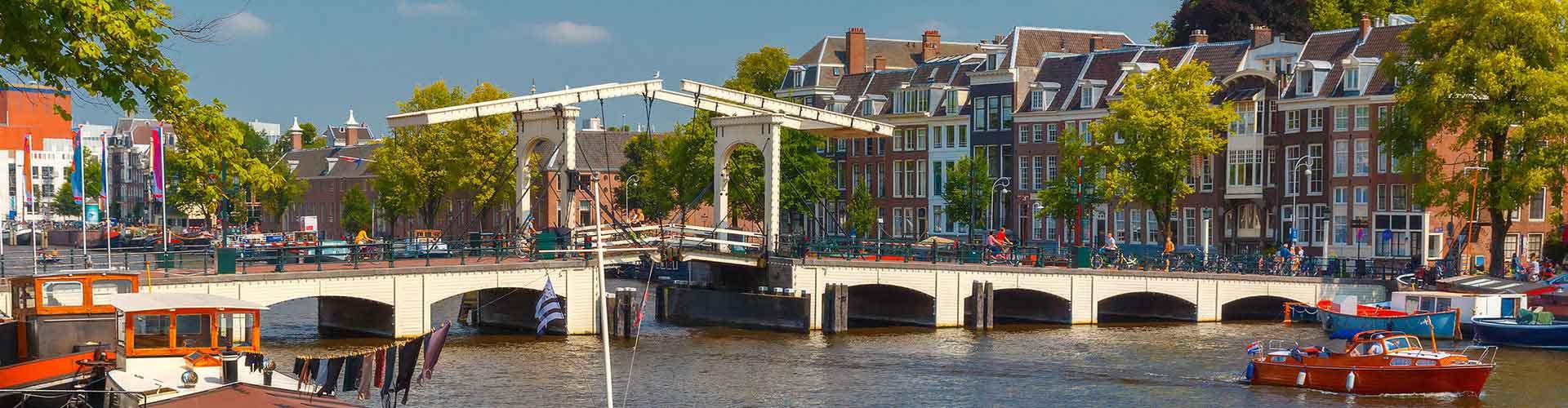 阿姆斯特丹 – 瘦桥附近的露营地。阿姆斯特丹地图,阿姆斯特丹每个露营地的照片和评价。