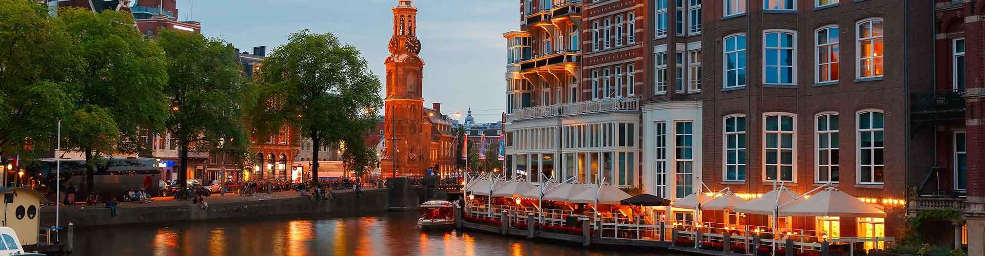 阿姆斯特丹 – 铸币塔附近的青年旅舍。阿姆斯特丹地图,阿姆斯特丹每家青年旅舍的照片和评价。