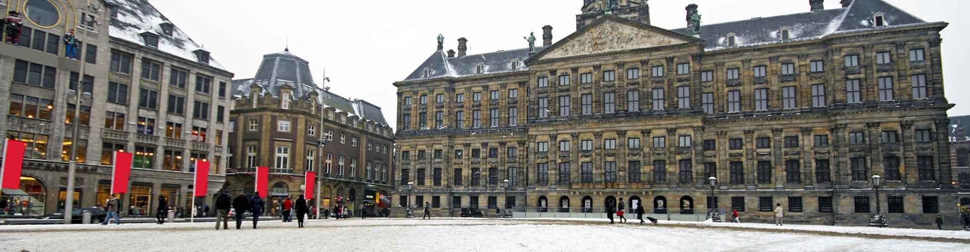阿姆斯特丹 – 皇宫附近的青年旅舍。阿姆斯特丹地图,阿姆斯特丹每家青年旅舍的照片和评价。