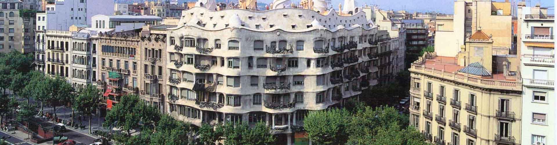 巴塞罗那 – 米拉公寓 附近的青年旅舍。巴塞罗那地图,巴塞罗那 所有青年旅馆的照片和评分。