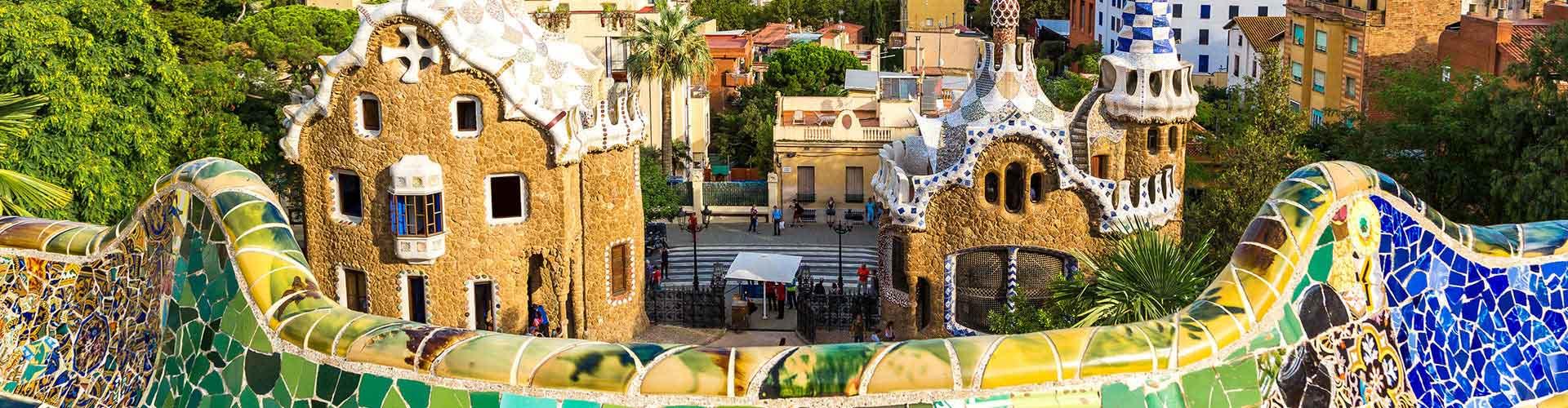 巴塞罗那 – 公园奎尔附近的露营地。巴塞罗那地图,巴塞罗那每个露营地的照片和评价。