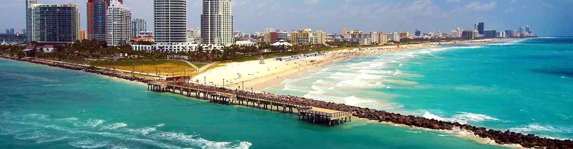 迈阿密 – 迈阿密的青年旅舍。迈阿密地图,迈阿密每间青年旅舍的照片和评价。